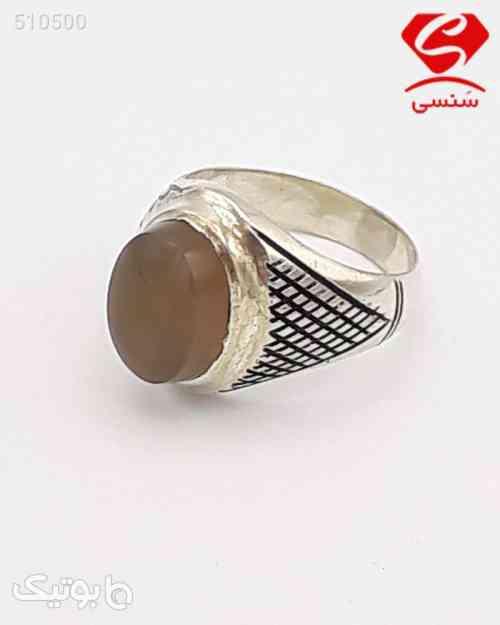 انگشتر نقره مردانه قهوه ای 99 2020