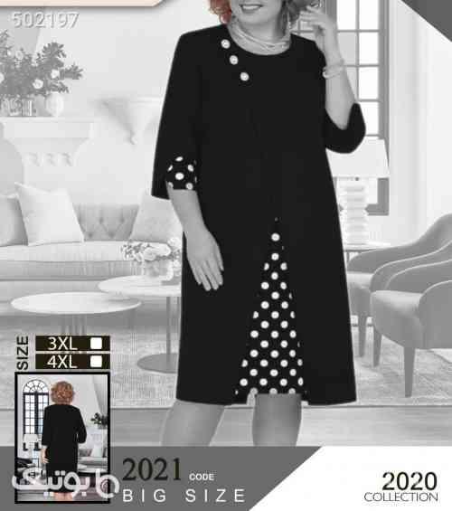 تونیک سایز بزرگ شیک و زیبا مشکی 99 2020