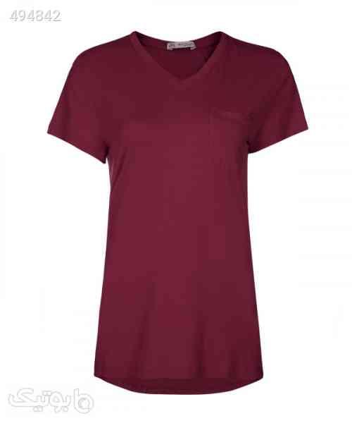 تیشرت زنانه یقه هفت جامه پوش آرا JPA قرمز 99 2020