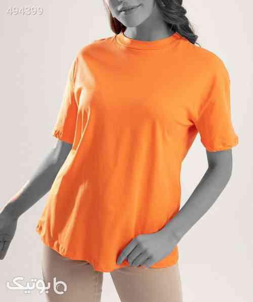 یقه ایستاده نارنجی تیشرت زنانه برندکد 3684935 نارنجی 99 2020