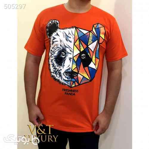 تیشرت چاپی  نارنجی 99 2020