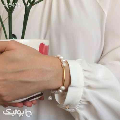 دستبند طلا الماسین آذر طرح مفتولی زرد 99 2020