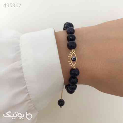 دستبند طلا الماسین آذر طرح چشم نظر زرد 99 2020