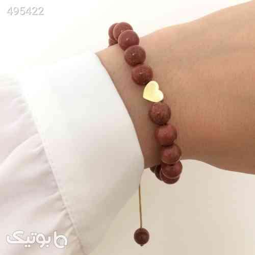دستبند طلا  الماسین آذر طرح قلب  زرد 99 2020