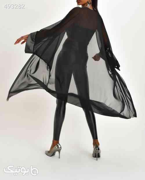 بافت طرحدار رویه چرم ابریشمی توری زنانه برند Quincey کد 1592031537 مشکی 99 2020