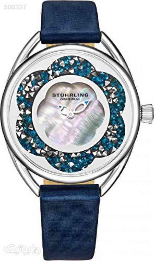 Stuhrling Original Womens Watches with Mother of Pearl Dial with Crystal Flower Ring - Analog Dress Watch 995 Lily Wrist Watches for Women - Ladies Watch Collection سورمه ای 99 2020