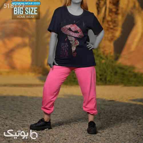 ست بلوز شلوار سایز بزرگ جدید زنانه مشکی 99 2020