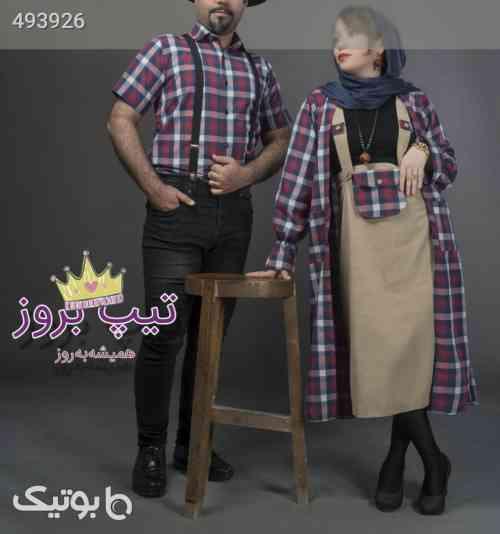 مانتو دامن خانم و پیراهن آقا مدل نگار سبز 99 2020