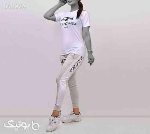 ست تیشرت و شلوار دخترانه balenciaga سفید 99 2020