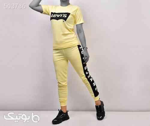 ست دخترانه مدل LEVIS  زرد 99 2020