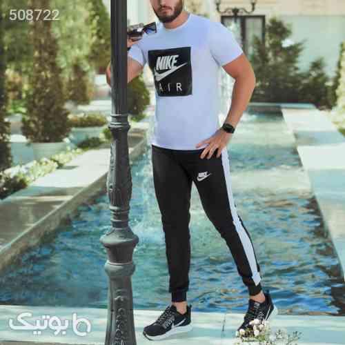ست تیشرت وشلوار Nike مدل Zilan (سفید) مشکی 99 2020