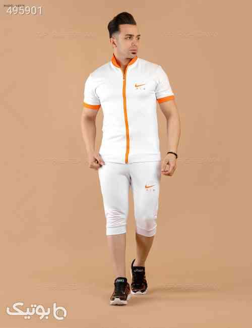 ست سویشرت و شلوارک  Nike مدل  14074 سفید 99 2020