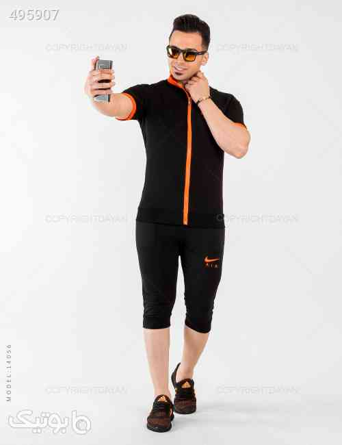 ست سویشرت و شلوارک مردانه Nike مدل 14056 مشکی 99 2020