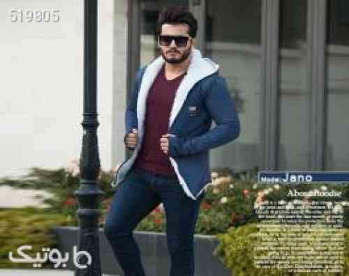 هودی خزدار مردانه مدل Jano (تمام خز) آبی 99 2020