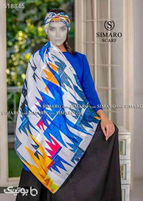 روسری نخی آبی 99 2020