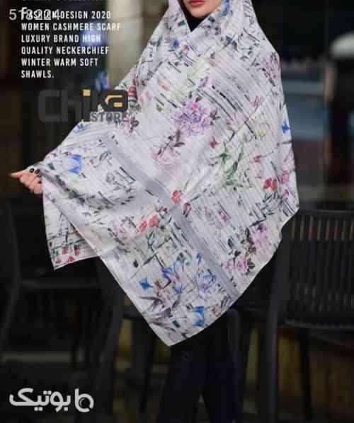 شال زنانه نخی گلدار LUXURY BRAND HIGH - شال و روسری