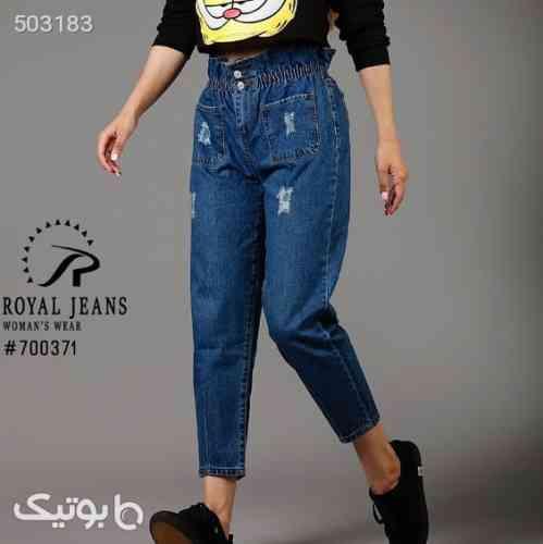 شلوار جین مام استایل  آبی 99 2020