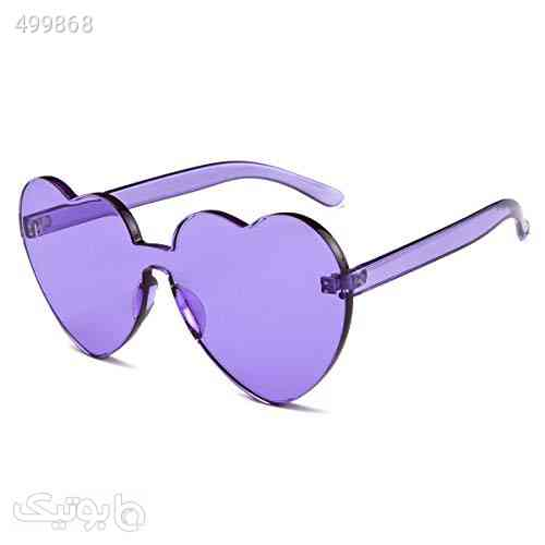 Dollger Heart Shape Sunglasses One Piece Transparent Rimless Candy Color Glasses آبی 99 2020