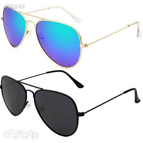 Livhò Sunglasses for Men Women Aviator Polarized Metal Mirror UV 400 Lens Protection آبی 99 2020