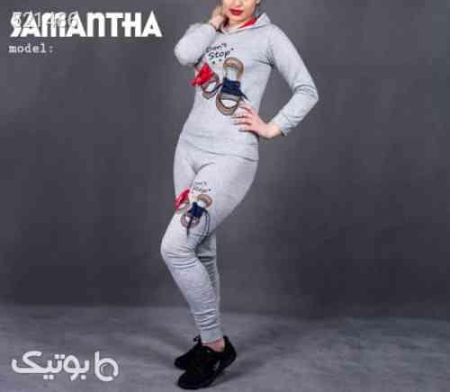 ست سویشرت و شلوار دخترانه مدل Samantha (روشن) طوسی 99 2020