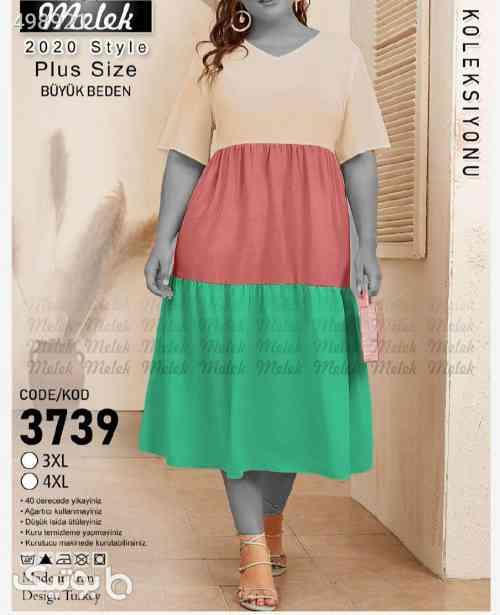 پیراهن (سایز بزرگ) سبز 99 2020