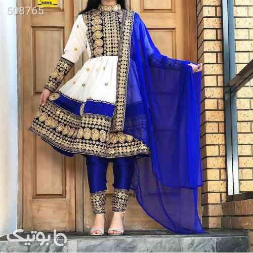 لباس محلی افغانی  آبی 99 2020