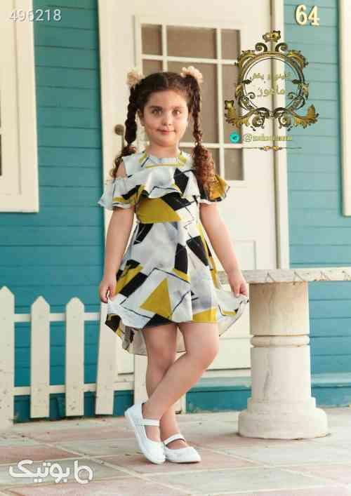 سارافون دخترانه زرد 99 2020