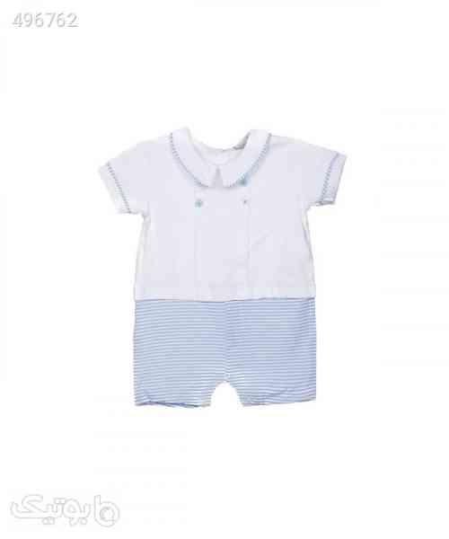 سرهمی نوزادی آستین کوتاه فیورلا Fiorella مدل fi-2804 سفید 99 2020