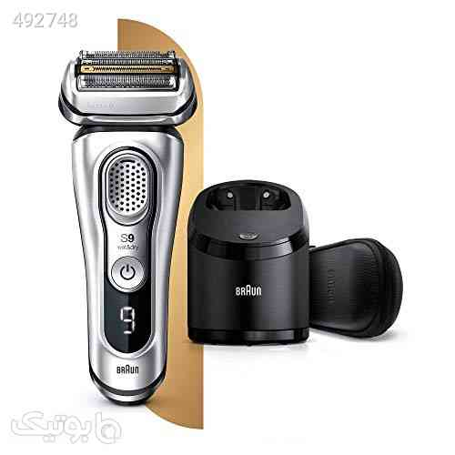 Braun Series 9 9390cc Latest Generation Electric Shaver Clean and Charge Station Leather Case Silver, 2 pin plug نقره ای 99 2020