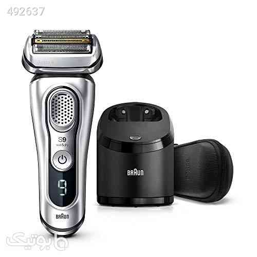 Braun Shaver 9390cc,Braun Series 9 9390cc Wet & Dry shaver with Clean & Charge station and leather travel case, silver, Silver, نقره ای 99 2020