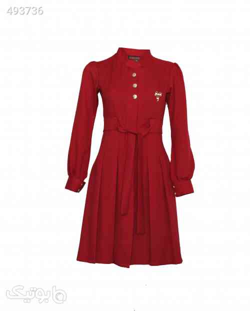 مانتو قرمز عروسکی مشکی 99 2020