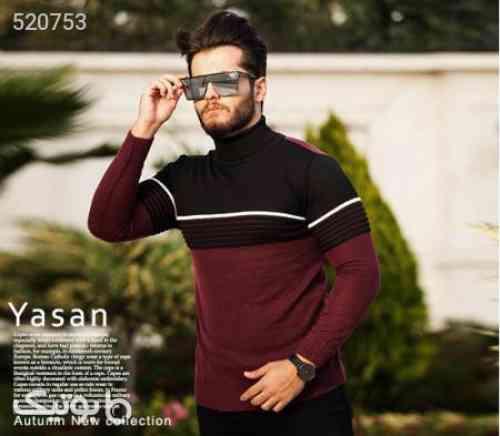 بافت مردانه مدل Yasan زرشکی 99 2020