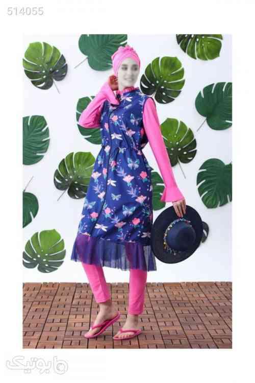 طرحدار پروانه مایو اسلامی پوشیده برند Moodbasic کد 1587649839 آبی 99 2020