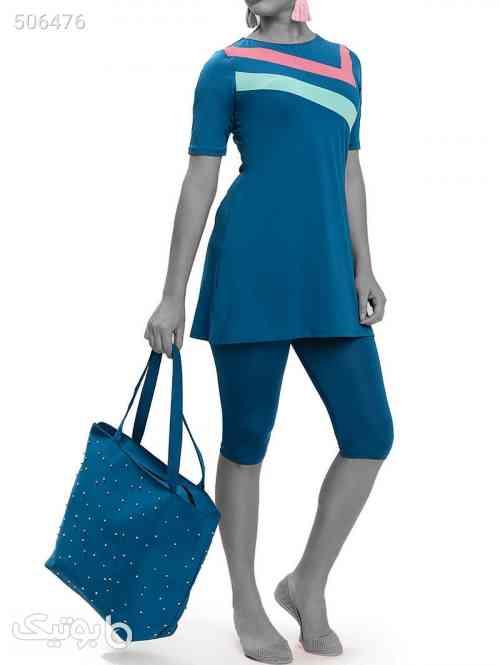 مایو اسلامی فیروزه ای پوشیده آستین کوتاه زنانه برند Armes کد 1588971735 آبی 99 2020