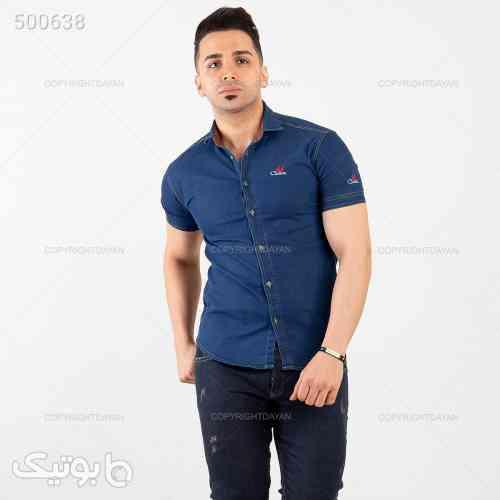 پیراهن جین آستین کوتاه آبی 99 2020