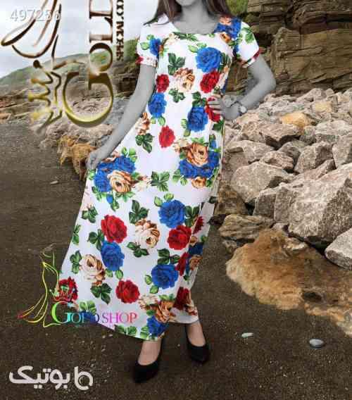 پیراهن خنک و سبک مدل زیبا ساحلی سوگل زرد 99 2020