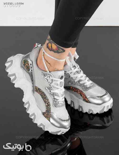کفش ورزشی زنانه Versace مدل 13954 طوسی 99 2020