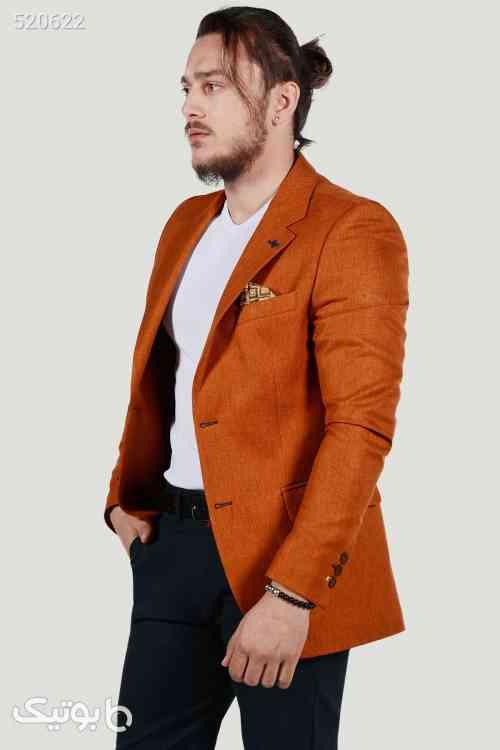 کت مردانه یاسی اسلیم فیت برند Terapi Men کد 1595137335 نارنجی 99 2020