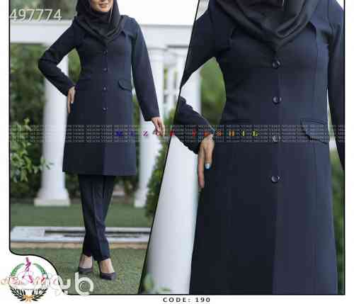 کت و شلوار رسمی جدید فیونا سورمه ای 99 2020
