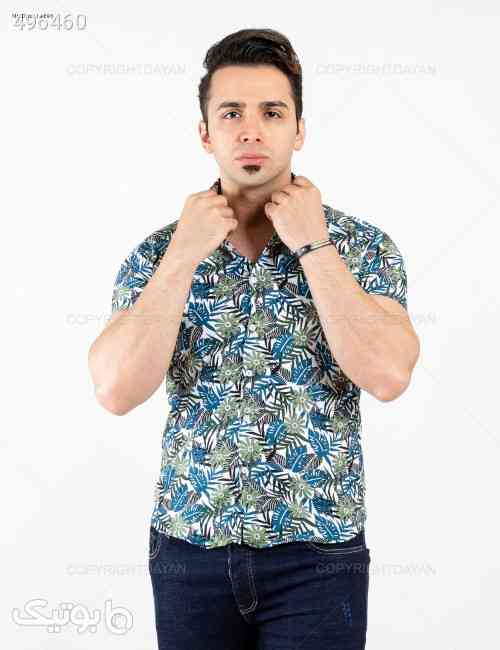 پیراهن مردانه مدل 14296 آبی 99 2020