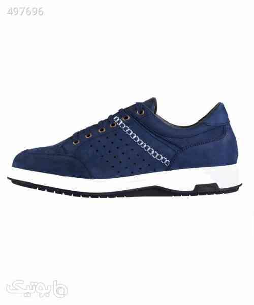 کفش راحتی مردانه چرمی لرد Lord مدل Lo-6065-1 سورمه ای 99 2020