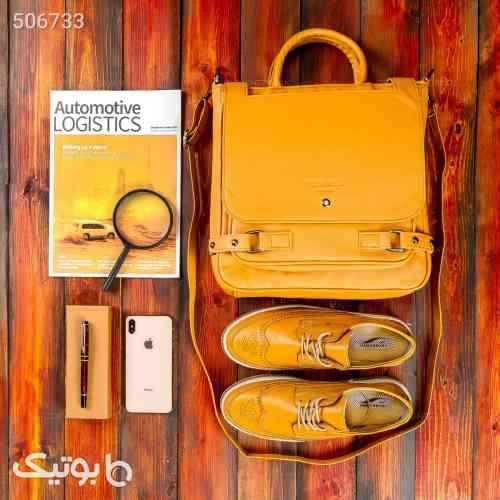 کیف اداری Hermes مدل 14297 زرد 99 2020