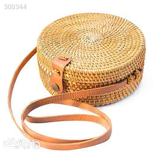 Handwoven Round Rattan Bag Shoulder Leather Straps Natural Chic Hand NATURAL NEO کرم 99 2020