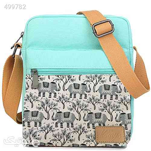 Kemy&x27;s Girls Elephant Purses Set Small Crossbody Tween Purse for Teen Girls Women Canvas Over Shoulder Messenger Bags for Traveling Easter Gifts, Teal Gray فیروزه ای 99 2020