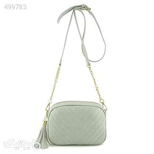 Simple Shoulder Crossbody Bag With Metal Chain Strap And Tassel Top Zipper سفید 99 2020