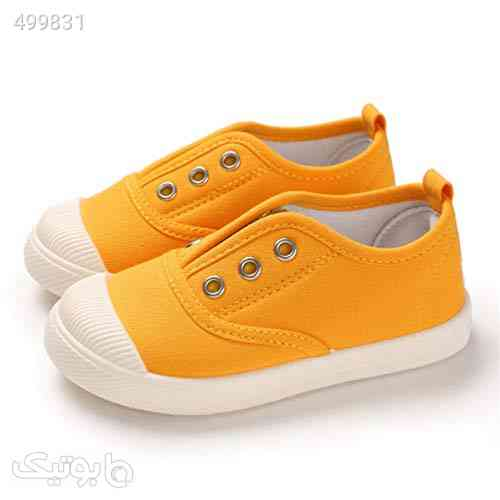 ENERCAKE Toddler Boys Girls Shoes Kids Canvas Sneakers Candy Color Slip-On Lightweight Tennis Shoes زرد 99 2020