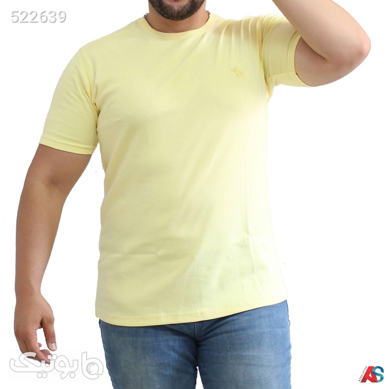 تیشرت سایز بزرگ کد محصول tomtilor5511 زرد سایز بزرگ مردانه