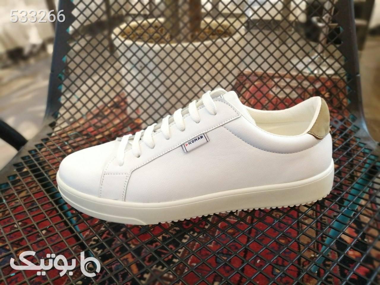 کفش کتونی کلاسیک  سفید سایز بزرگ مردانه