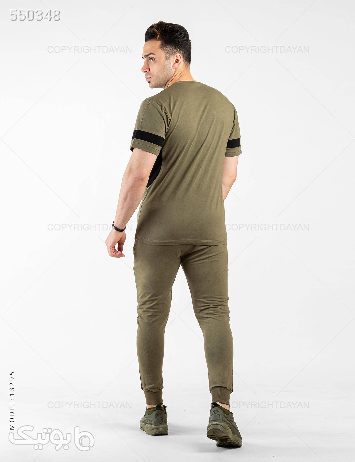 ست تیشرت و شلوار مردانه 361 درجه مدل 13295 سبز ست ورزشی مردانه