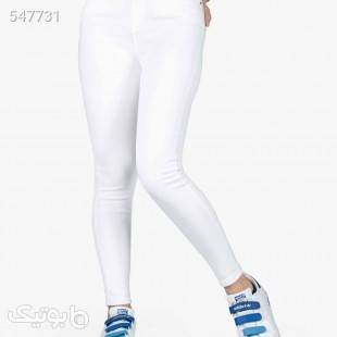 شلوار ویسکوز مدل 4004 سفید شلوار پارچه ای و کتانی زنانه